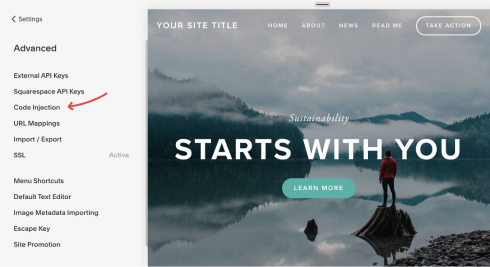 Inject Snippet into SquareSpace